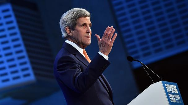 US Secretary of State John Kerry is in Paris for talks about Syria