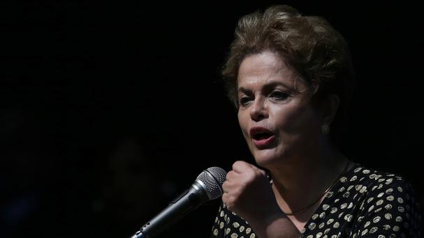 If a simple majority of the 81 senators vote in favour, Brazil's president Dilma Rousseff will be suspended from office (AP)