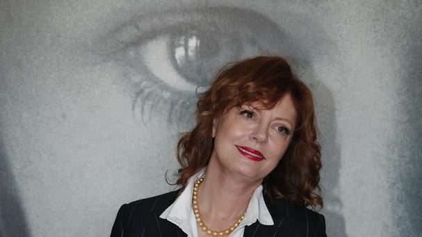 Actress Susan Sarandon poses for photographers during a photo call for the Women In Motion Talks in Cannes (AP)
