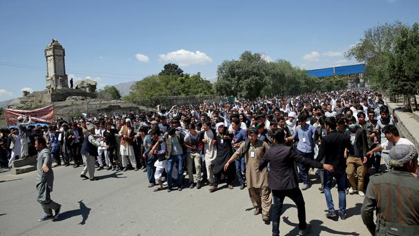 The massive anti-government protest took place in Kabul (AP)