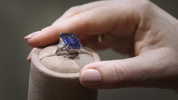 The Oppenheimer Blue has been sold at auction in Geneva