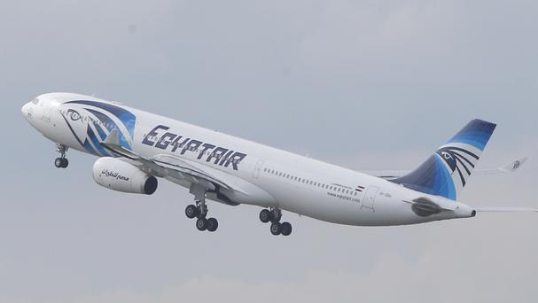 The EgyptAir plane had taken off from Paris and was nearing its destination of Cairo at the time of the crash (AP)