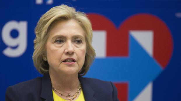 Hillary Clinton has taken a swipe at her likely rival in the White House race, Donald Trump (AP)