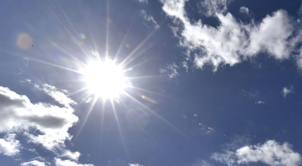 We can look forward to warm, dry weather this week