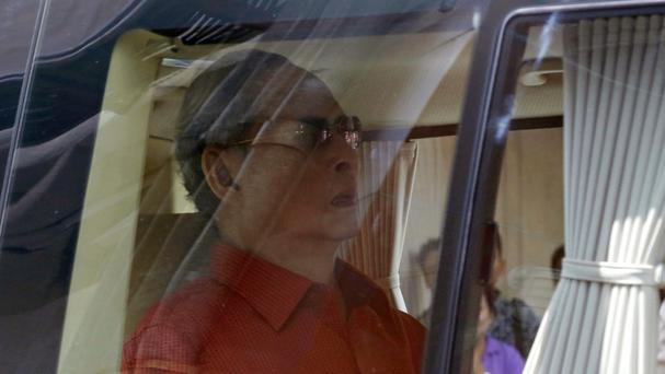 Thai King Bhumibol Adulyadej leaves Siriraj Hospital in Bangkok (AP)