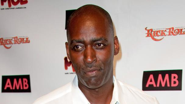 Michael Jace, pictured in October 2012 - the actor has gone on trial in Los Angeles accused of murdering his wife (AP)