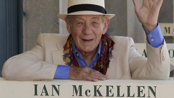 Sir Ian McKellen is in India promoting the British Film Industry's Shakespeare on Film series (AP)
