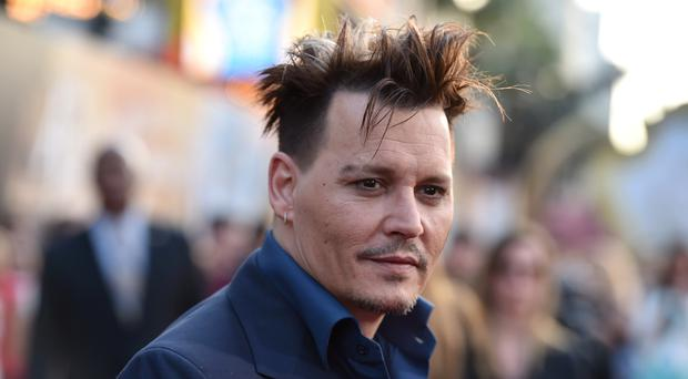 Johnny Depp, pictured at the LA premiere of Alice Through The Looking Glass on Monday, is locked in a bizarre war of words with an Australian politician (AP)