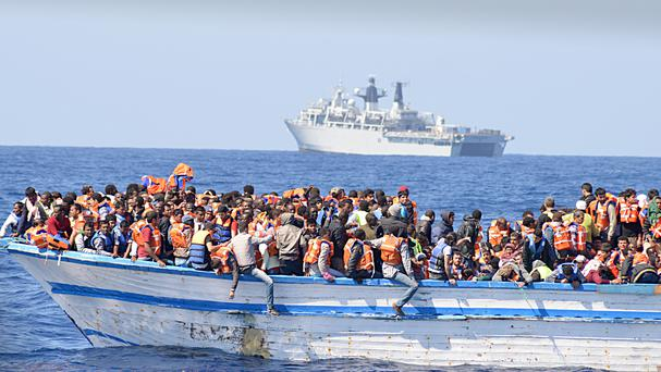 Migrants regularly try to cross the Mediterranean from Libya to Europe