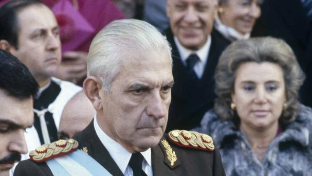 Argentina's last dictator, General Reynaldo Bignone, pictured in July 1982 - he has been sentenced to 20 years in jail (AP)