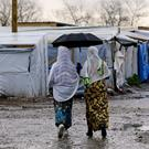 Migrants in the Jungle camp in Calais, France