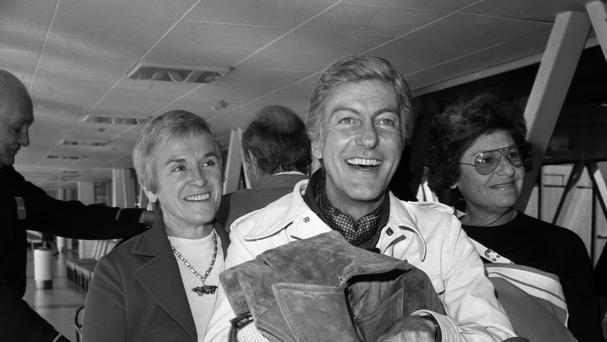 Dick Van Dyke at Heathrow airport