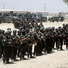 Iraq's elite counter-terrorism forces gather ahead of an operation to re-take the Islamic State-held City of Fallujah (AP)