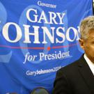Libertarian presidential candidate Gary Johnson speaks to supporters at the party convention in Orlando, Florida (AP)