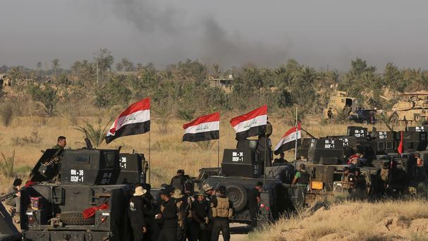 Iraqi forces prepare for the assault on Islamic State militants in Fallujah (AP)