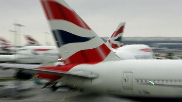 The British Airways was moved to a remote section of the airport