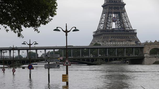 Flood waters have started to recede in Paris