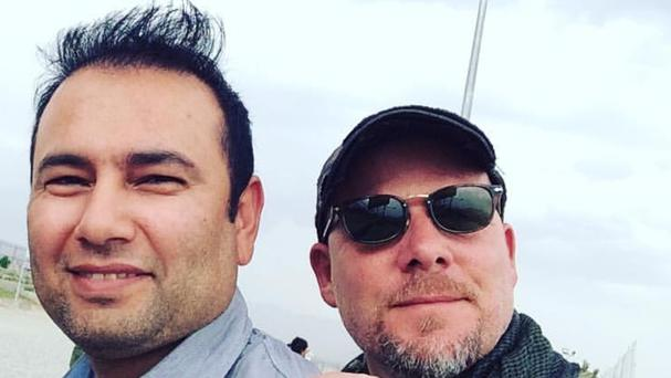 David Gilkey, right, and translator Zabihullah Tamanna (NPR/ AP)