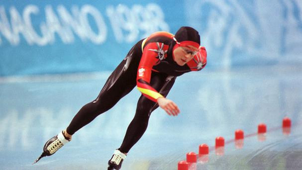 German speed skater Claudia Pechstein in the 1998 Winter Olympics in Nagano, Japan