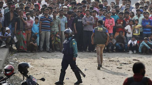Police made 5,324 arrests in Bangladesh over the weekend, including 85 suspected Islamist radicals (AP)