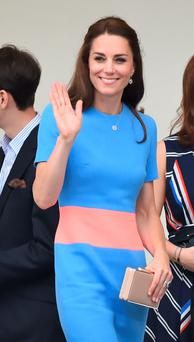 Kate Middleton at the Patron's Lunch street party in London, in honour of the queen's 90th birthday. Photo: Dominic Lipinski/PA
