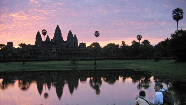 The Angkor Wat temples at sunrise, outside Siem Reap, Cambodia (AP)