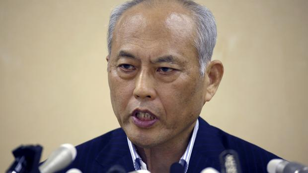 Yoichi Masuzoe had come under questioning in the Tokyo Metropolitan Assembly for allegedly spending funds on private vacations and hobbies (AP)