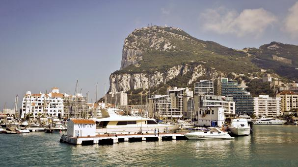 David Cameron is making a two-hour visit to Gibraltar on Thursday