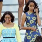Michelle Obama and her daughters Malia and Sasha are in Africa