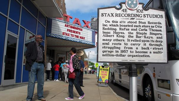 The former Stax Records music studio (AP)