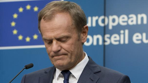 European Council president Donald Tusk said the EU will remain united after Brexit (AP)