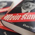 Editions of Mein Kampf on display at the Institute for Contemporary History in Munich (dpa/AP)