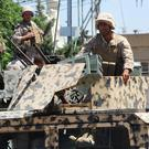 Lebanese forces have been on high alert after a bomb attack in the village of Qaa on Monday (AP)