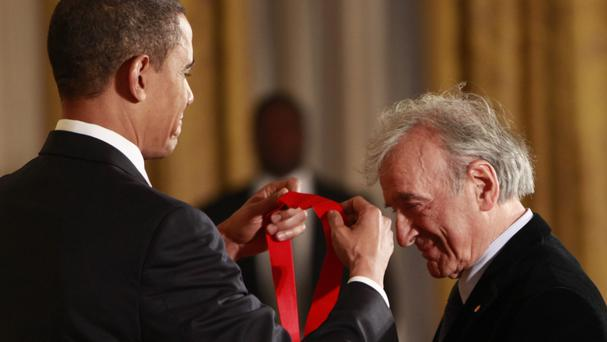 Elie Wiesel (pictured being presented with the 2009 National Humanities Medal by US president Barack Obama) passed away on July 2. The Holocaust survivor and writer was 87.