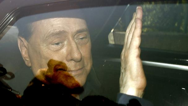 Silvio Berlusconi has been dismissed from hospital (AP)