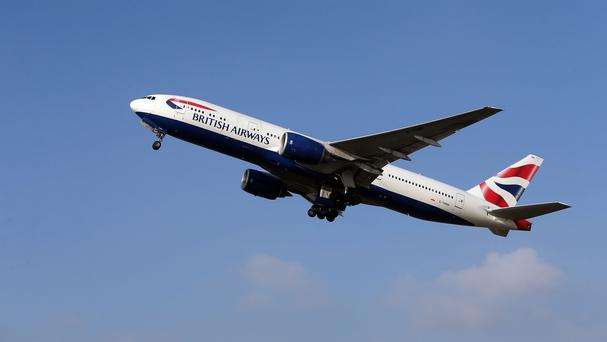 A British Airways Boeing 777. Stock photo