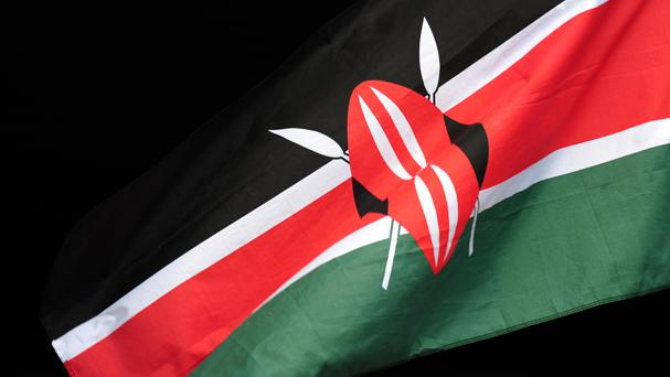 A number of officers are being held hostage by a suspected extremist at a police station in western Kenya.