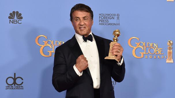 Sylvester Stallone received a Golden Globe for his role in Creed (AP)