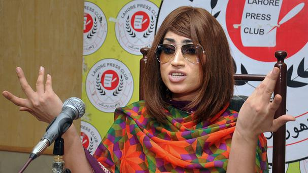 Qandeel Baloch recently stirred controversy by posting pictures of herself with a Muslim cleric on social media (AP)