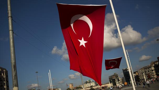 Two policemen died in an attack on a road block in Turkey (AP)