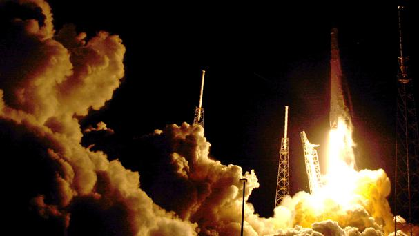 The Falcon 9 SpaceX rocket lifted off from Cape Canaveral, Florida, on Monday (AP)