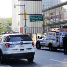 Police block off several streets near Columbus Circle, New York City (AP)
