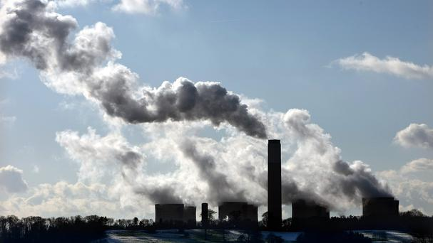 """New highs"" in heat-trapping carbon dioxide levels point to quickening climate change. Stock image (Stock picture)"