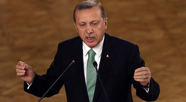 Turkey's President Recep Tayyip Erdogan criticised Western countries which expressed concern over human rights after the attempted coup (AP)
