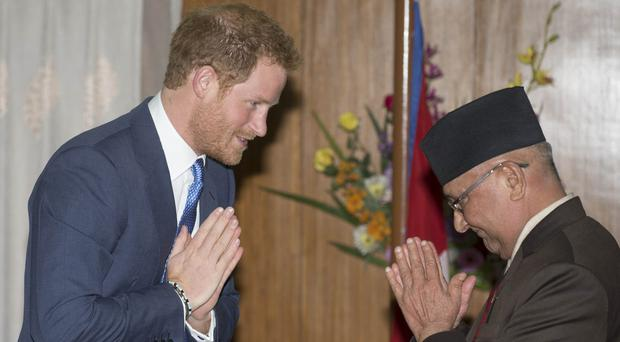 Khadga Prasad Oli - who met Prince Harry earlier this year - has resigned as prime minister of Nepal