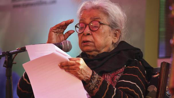 Mahasweta Devi received several of the country's top civilian and literary awards (AP Photo/Deepak Sharma, File)