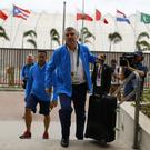 IOC president Thomas Bach moves into the Olympic village in Rio de Janeiro (Pool photo/AP)