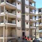 Buildings are being prepared by the Syrian government to host people who will left rebel-held neighbourhoods of the northern city of Aleppo (Sana via AP)