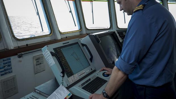 Crew on survey ship HMS Echo helping the search in the southern Indian Ocean for the flight recorder from missing Malaysia Airlines Flight MH370 (MoD/PA).