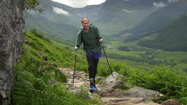Jamie Andrew was the first quadruple amputee to scale Ben Nevis